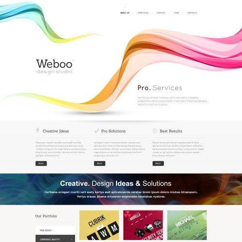 Weboo - Website Template based on Bootstrap