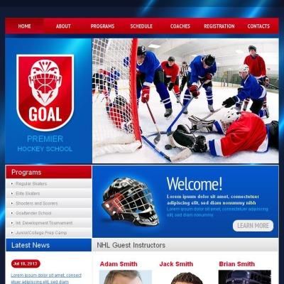 Facebook HTML CMS Vorlage für Hockey