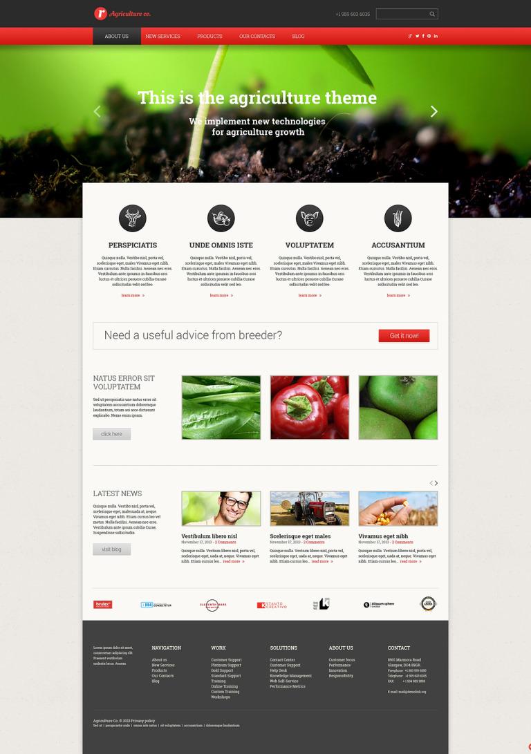 Farm Responsive Website Template New Screenshots BIG