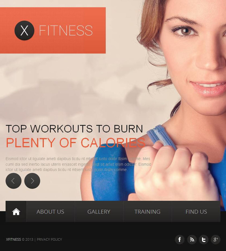 Fitness Facebook HTML CMS Template New Screenshots BIG