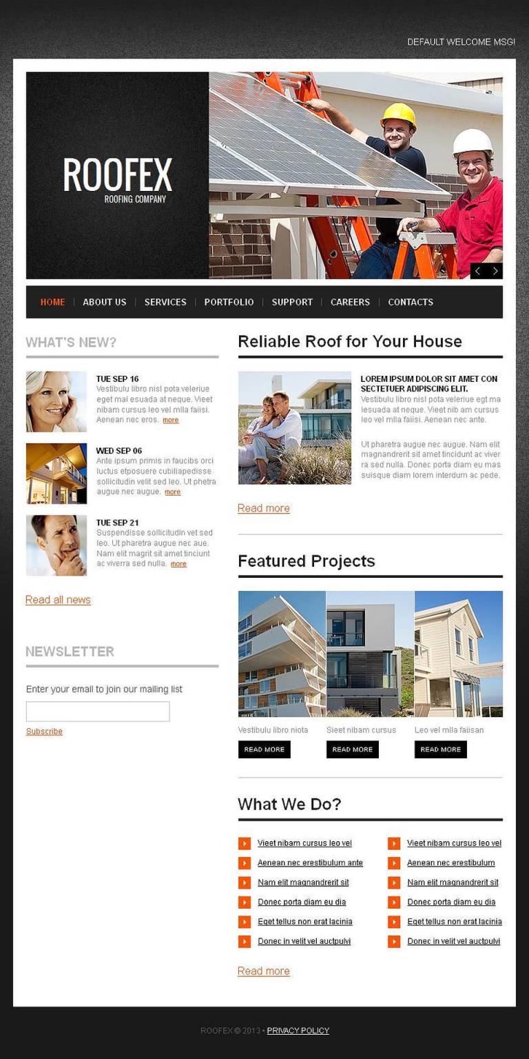 Flooring Facebook HTML CMS Template New Screenshots BIG