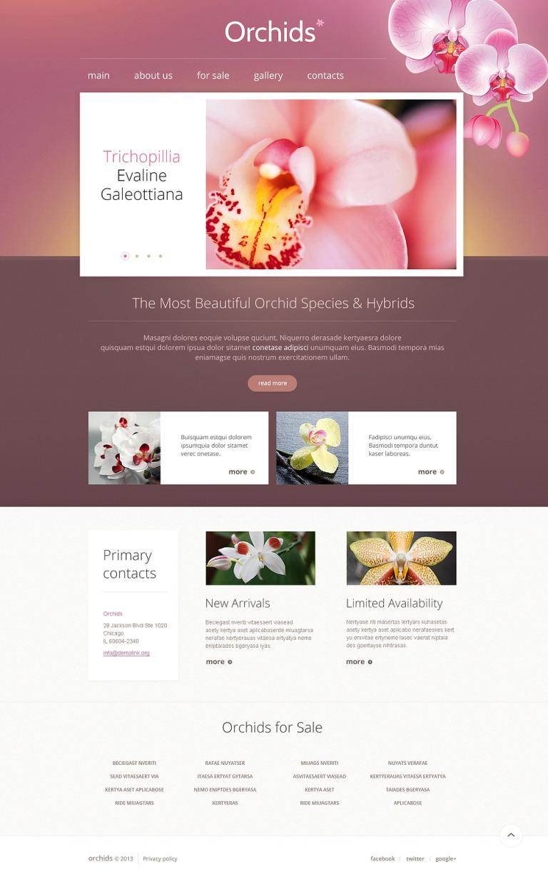 Flowers Responsive Website Template New Screenshots BIG
