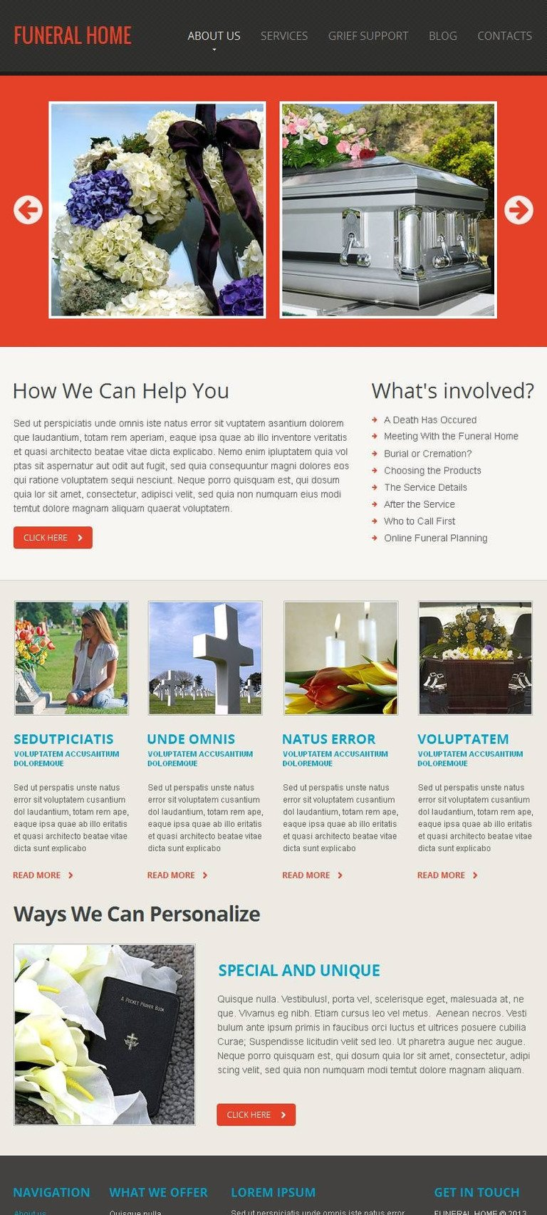 Funeral Services Facebook HTML CMS Template New Screenshots BIG