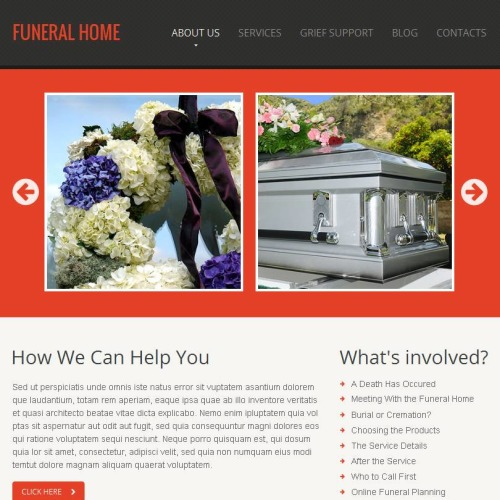 Funeral Home - Facebook HTML CMS Template