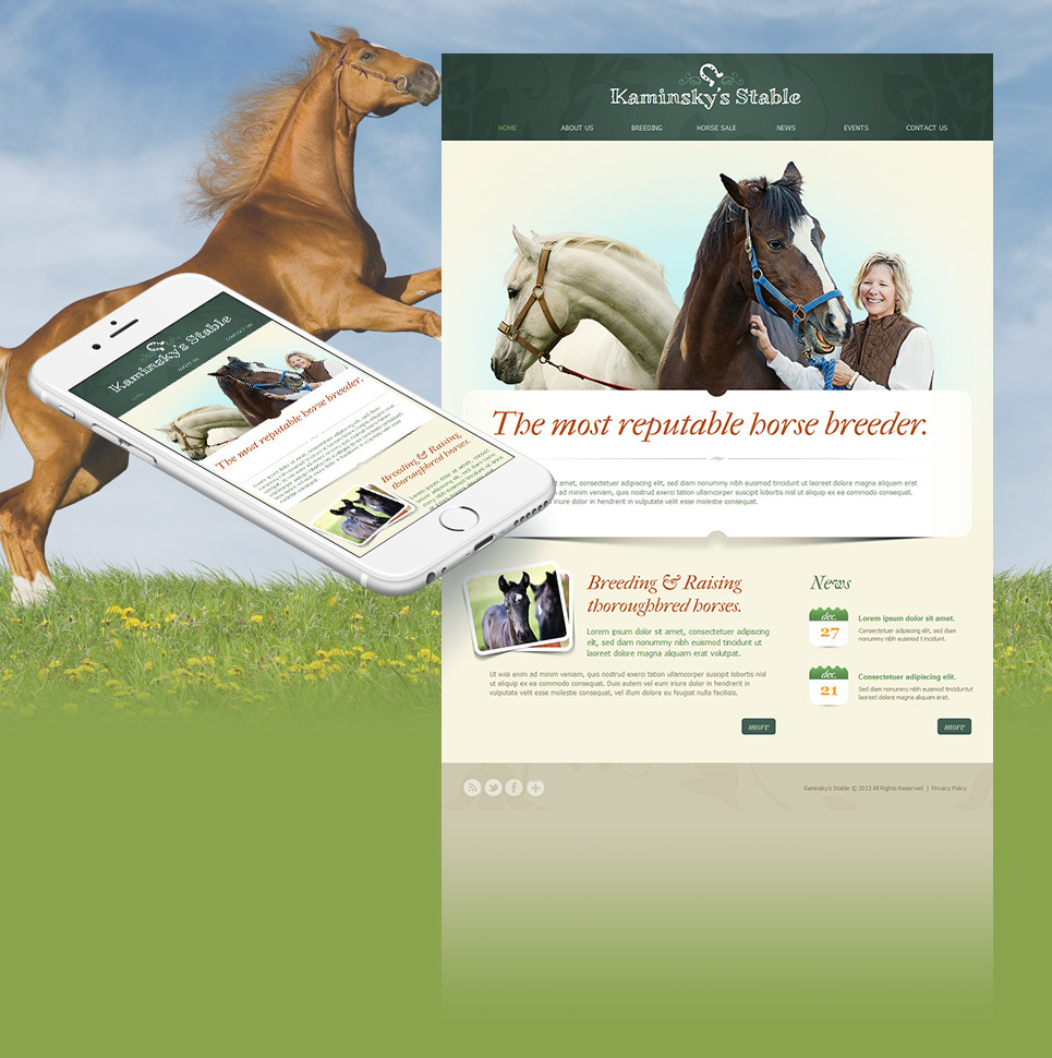 Horse Racing Moto CMS HTML Template New Screenshots BIG