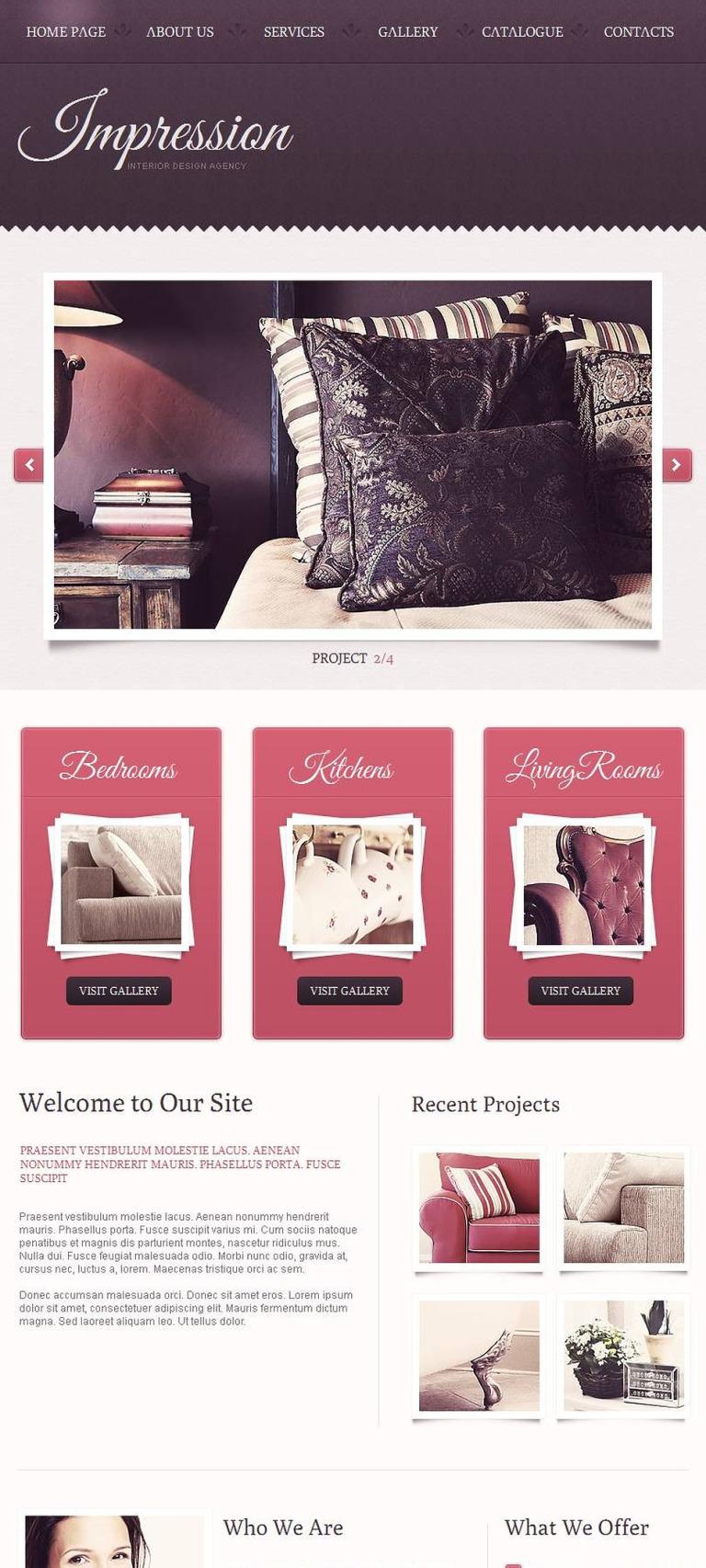 Interior Design Facebook HTML CMS Template New Screenshots BIG