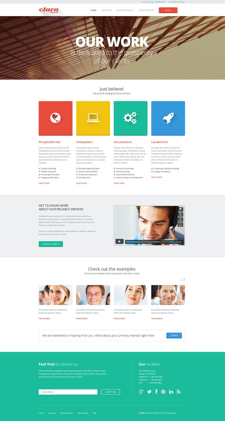 Merchant Services Responsive Website Template New Screenshots BIG