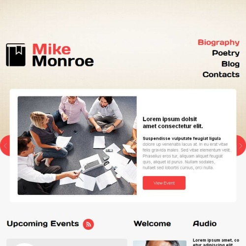Mike Monroe - Facebook HTML CMS Template