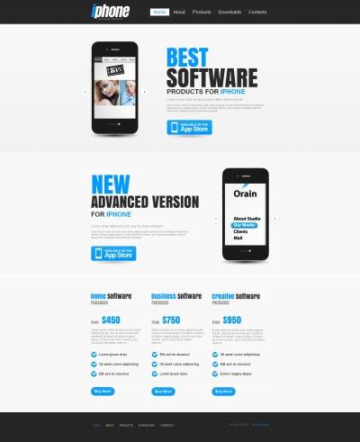 Software Store Moto CMS HTML Şablon