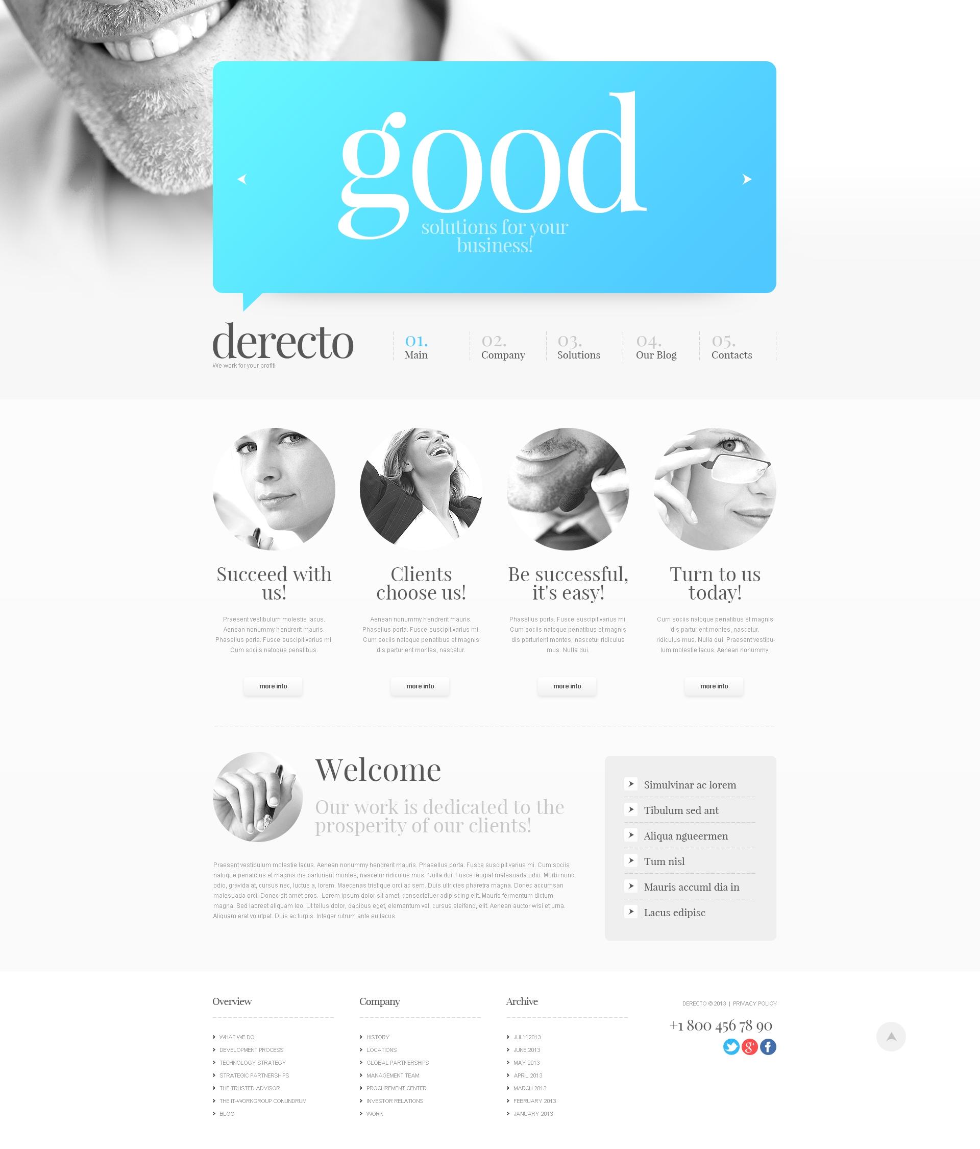 Prominent Business Drupal Template - screenshot