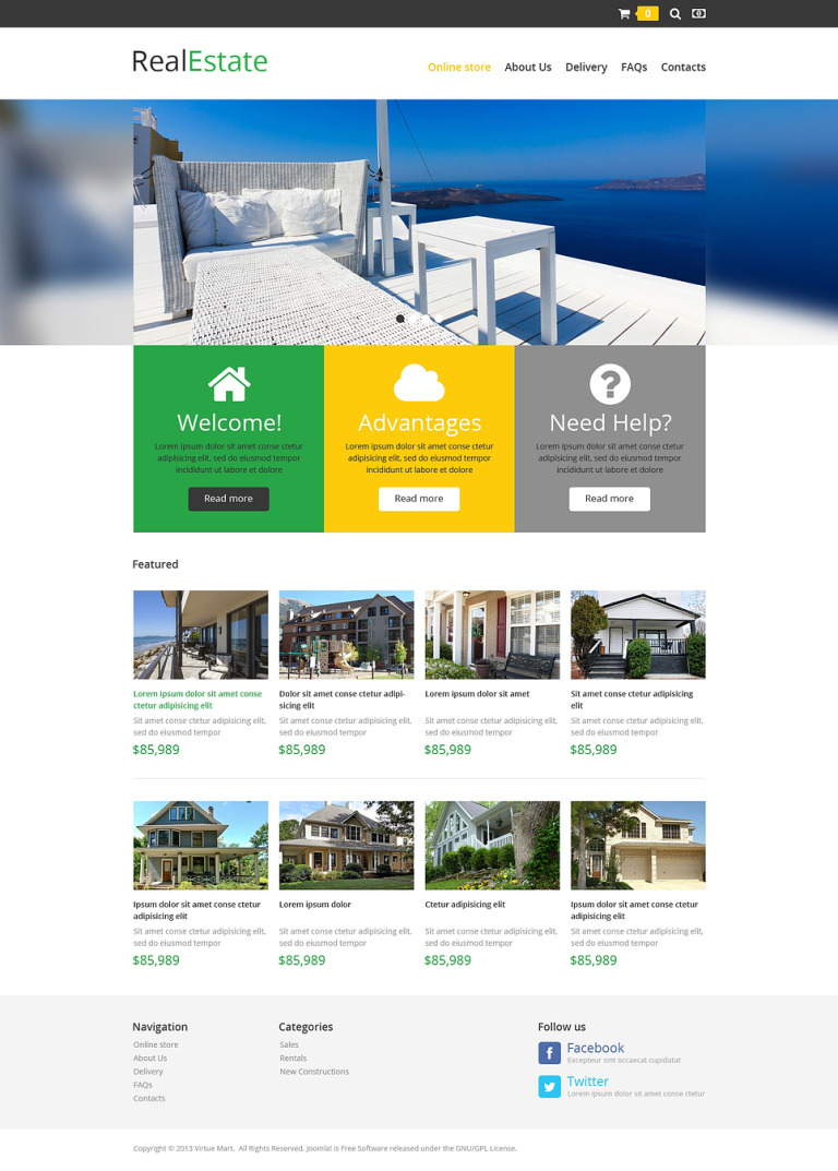 Real Estate Store VirtueMart Template New Screenshots BIG