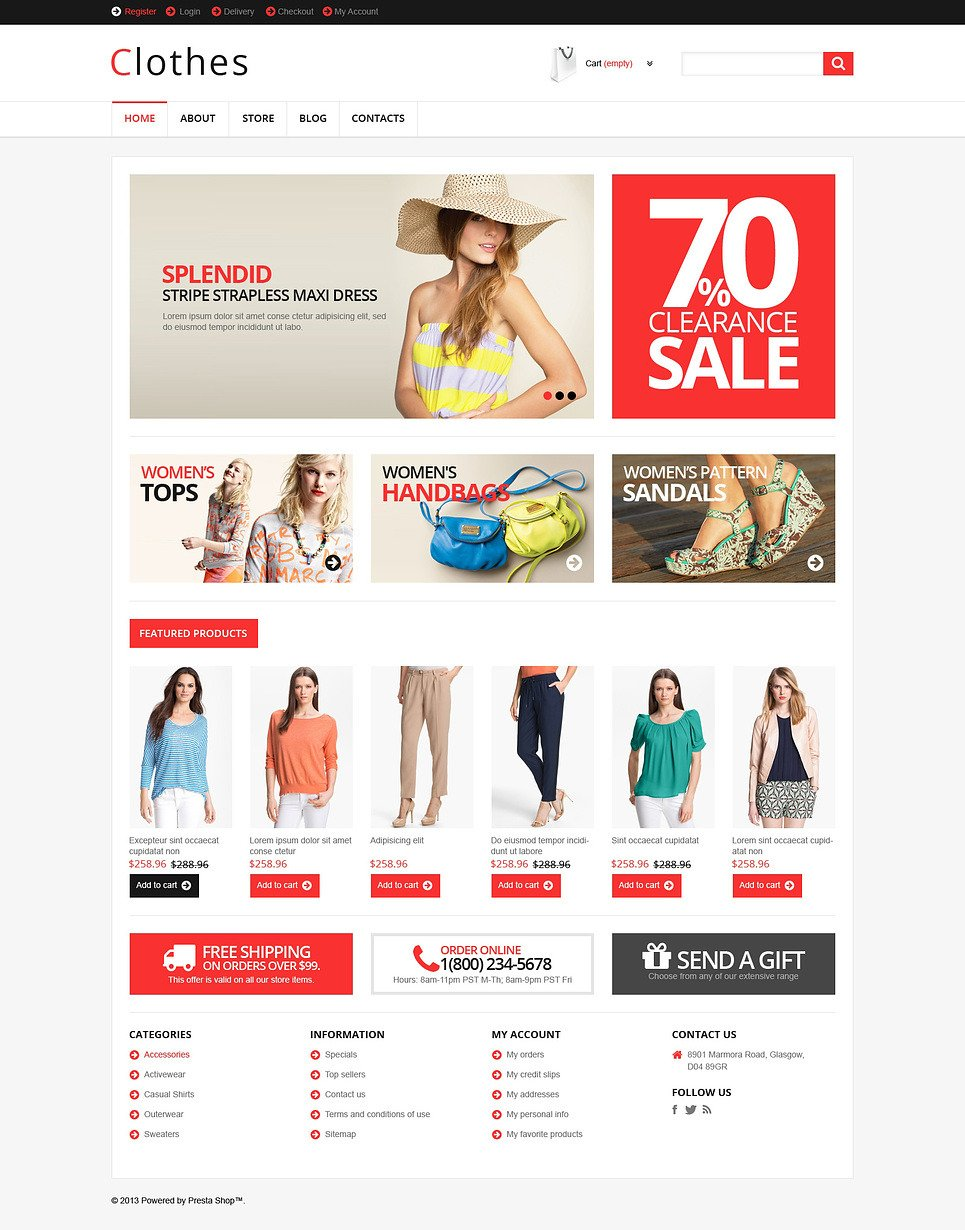 Responsive Clothes Store WooCommerce Theme New Screenshots BIG