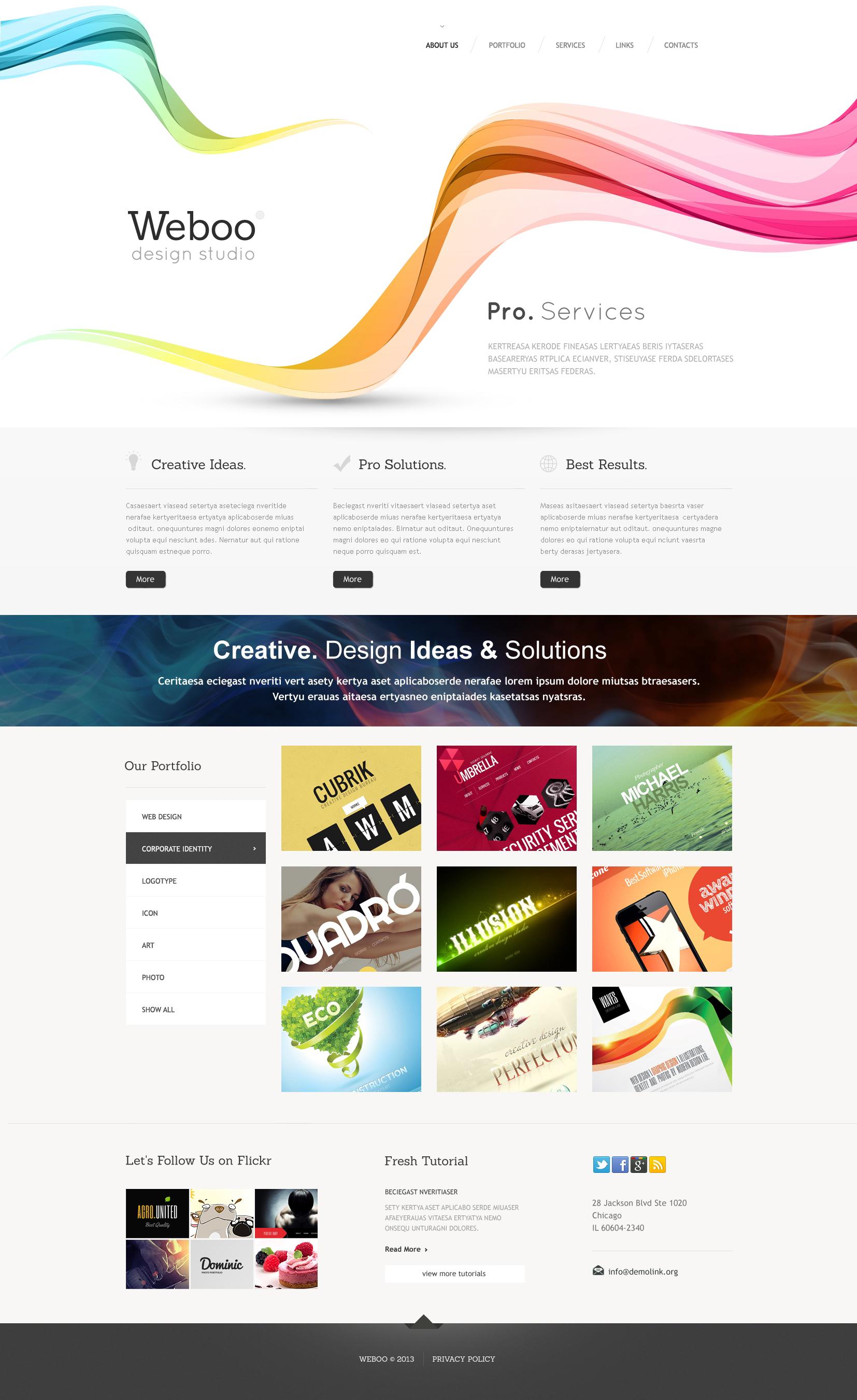 Responsive Website Vorlage für Designstudio #46444 - Screenshot