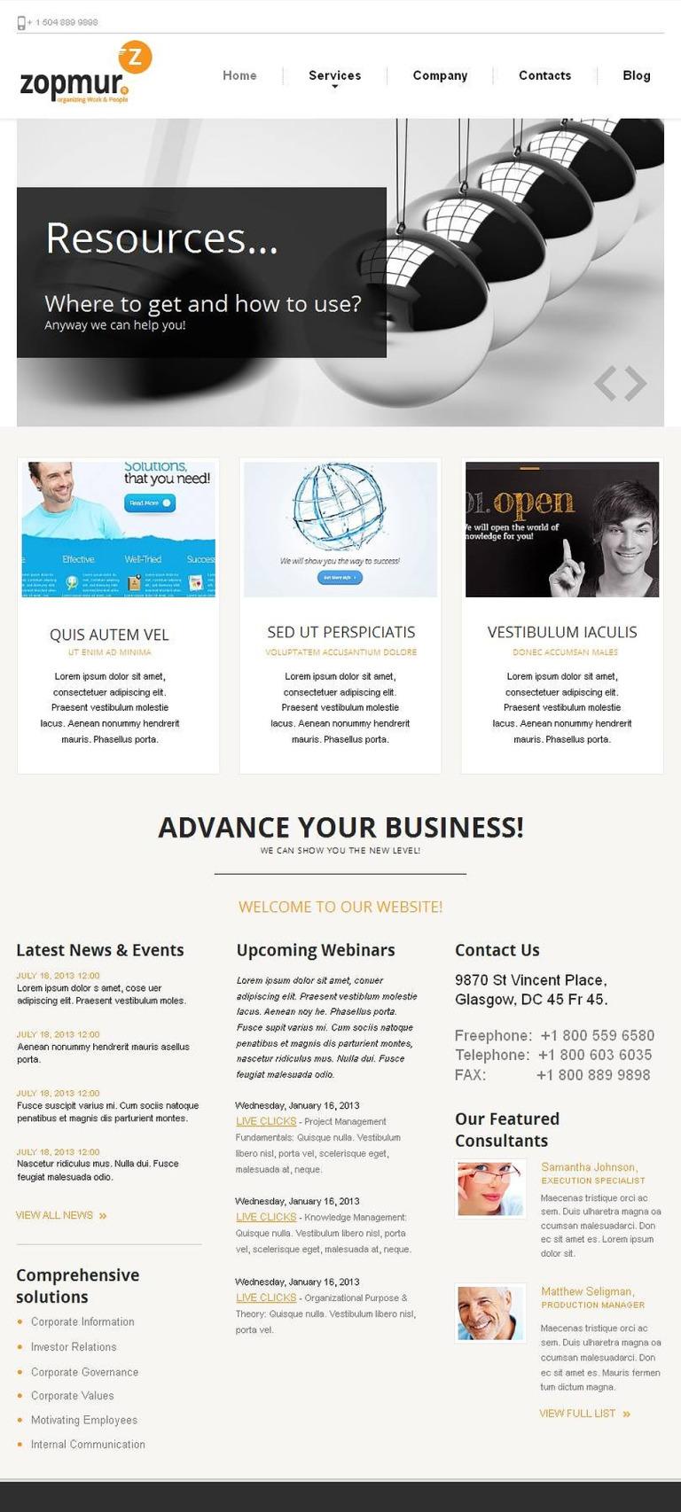 SEO Website Facebook HTML CMS Template New Screenshots BIG