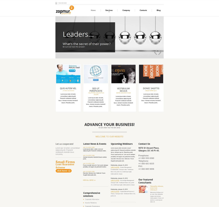 SEO Website Moto CMS HTML Template New Screenshots BIG
