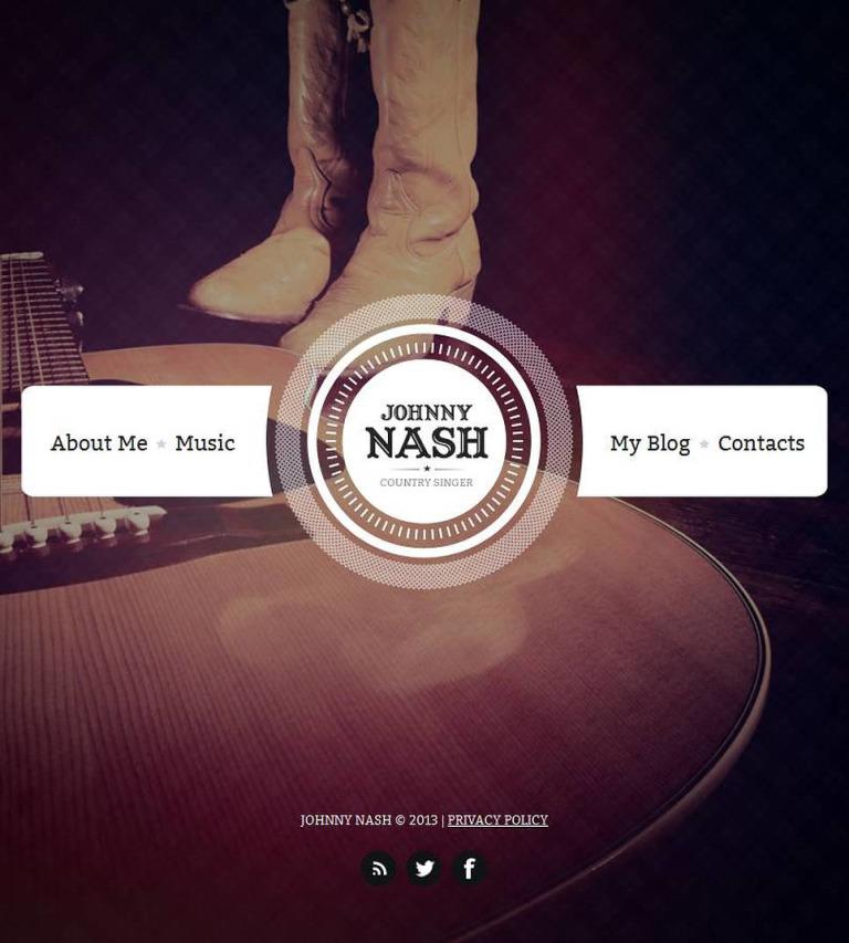 Singer Facebook HTML CMS Template New Screenshots BIG