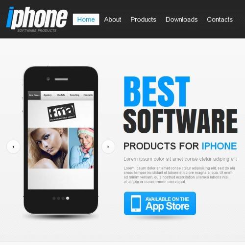 Iphone - Facebook HTML CMS Template