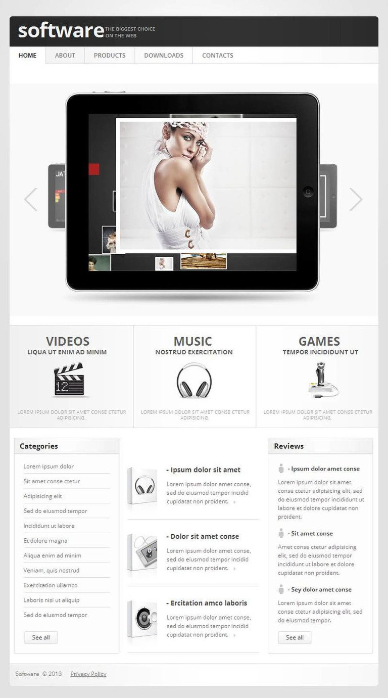 Software Company Facebook HTML CMS Template New Screenshots BIG