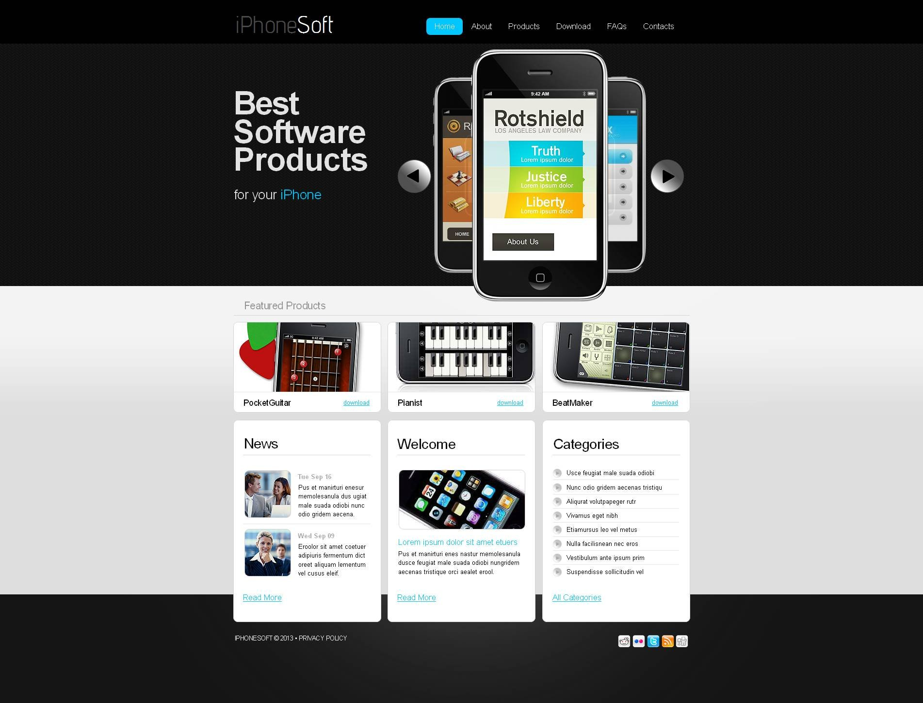 Software Company Moto CMS HTML Template