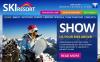Szablon Facebook HTML CMS #46483 na temat: narciarstwo New Screenshots BIG