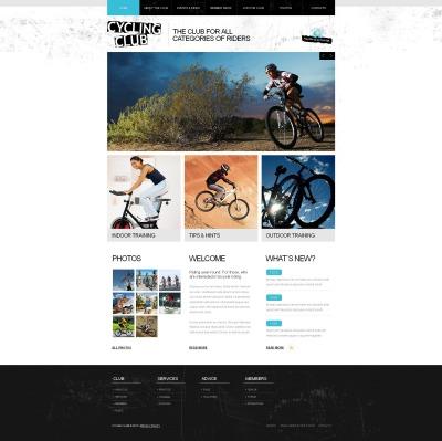 Cycling Tema Moto CMS HTML