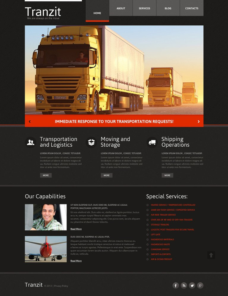 Trucking Responsive Website Template New Screenshots BIG
