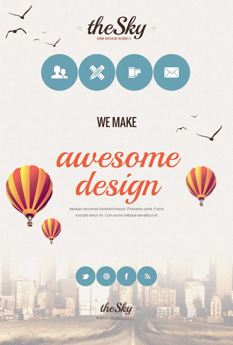 Web Design Facebook HTML CMS Template New Screenshots BIG