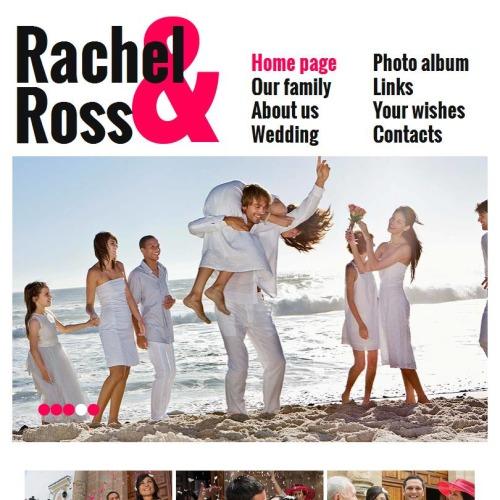 Rachel & Ross - Facebook HTML CMS Template