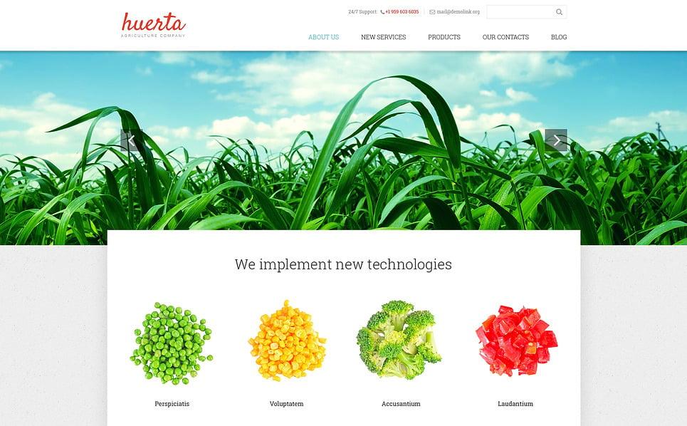 Responsive Website Vorlage für Farm  New Screenshots BIG