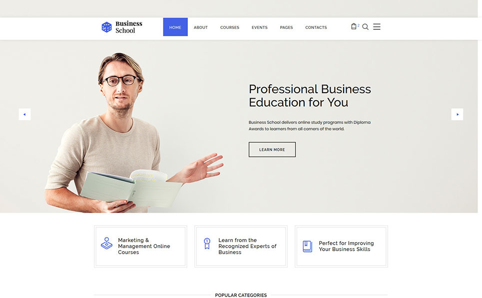 Reszponzív Üzleti iskolák Weboldal sablon New Screenshots BIG