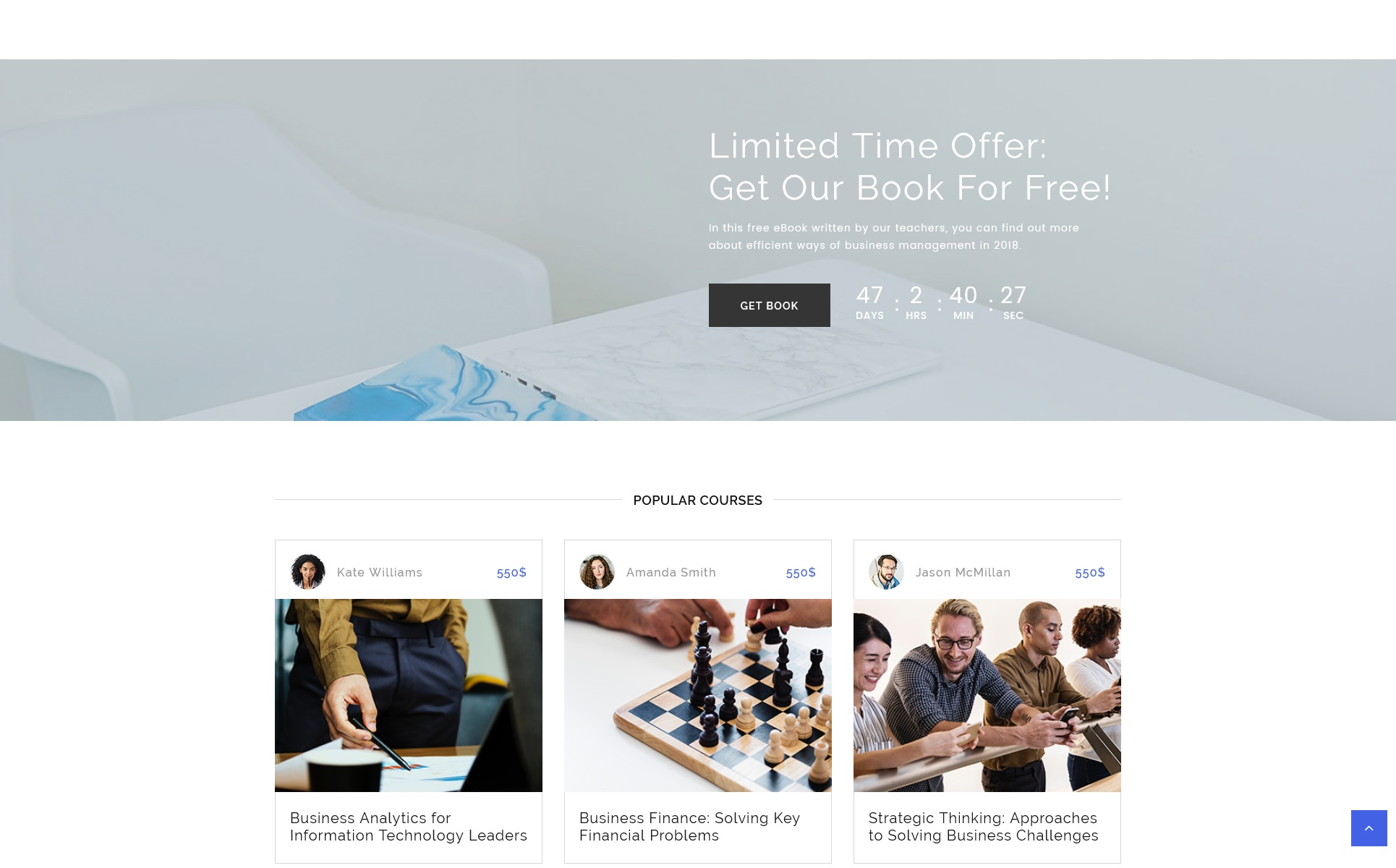 E learning multipage html template e learning multipage html website template big screenshot zoom in live demo maxwellsz