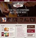 Music Website  Template 46515