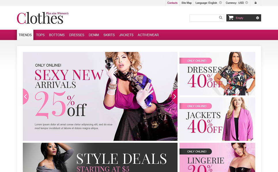 Responsives PrestaShop Theme für Mode-Shop  New Screenshots BIG