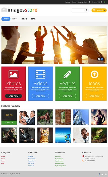 ADOBE Photoshop Template 46526 Home Page Screenshot