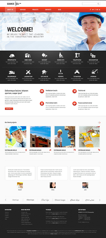 WordPress Theme/Template 46544 Main Page Screenshot