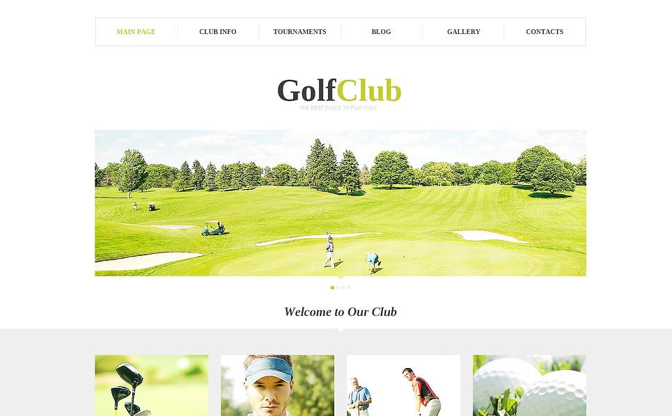 Responsive WordPress thema over Golf New Screenshots BIG
