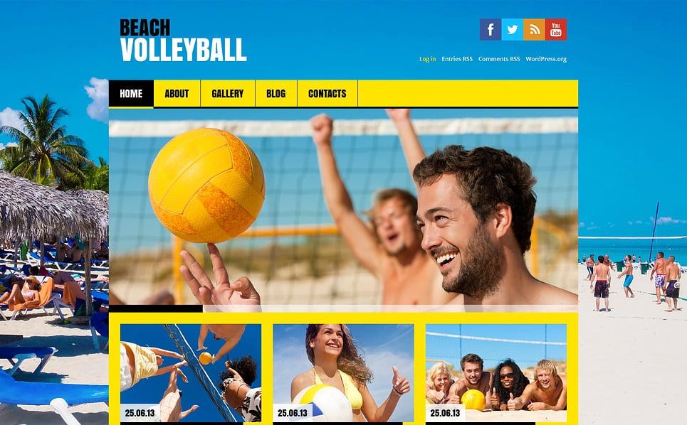 Responsive WordPress thema over Volleybal  New Screenshots BIG