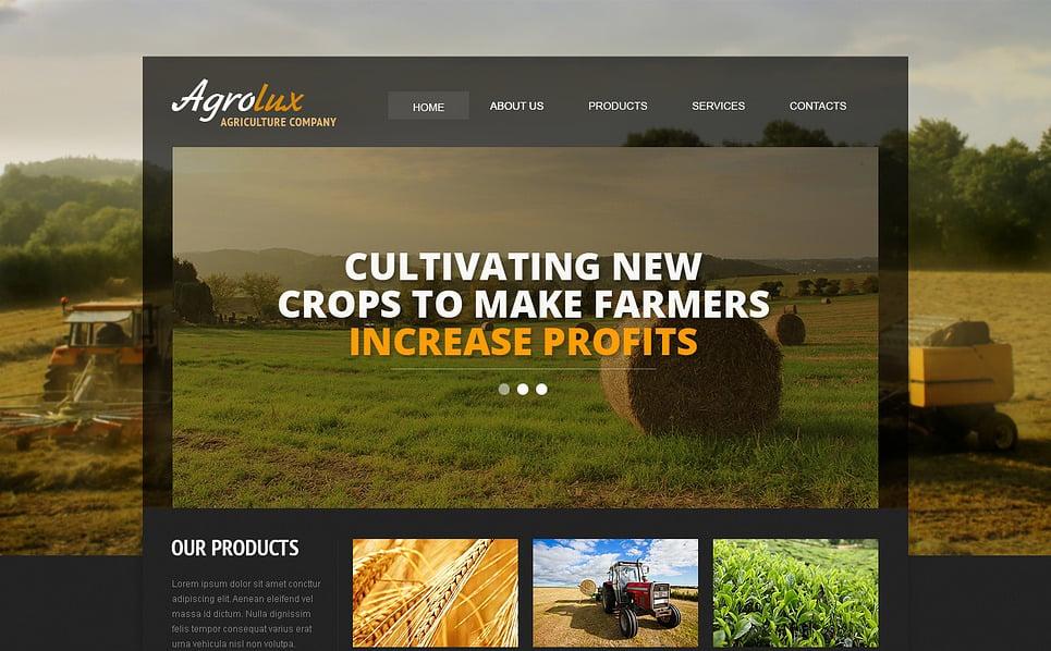 Responsywny szablon strony www #46550 na temat: rolnictwo New Screenshots BIG