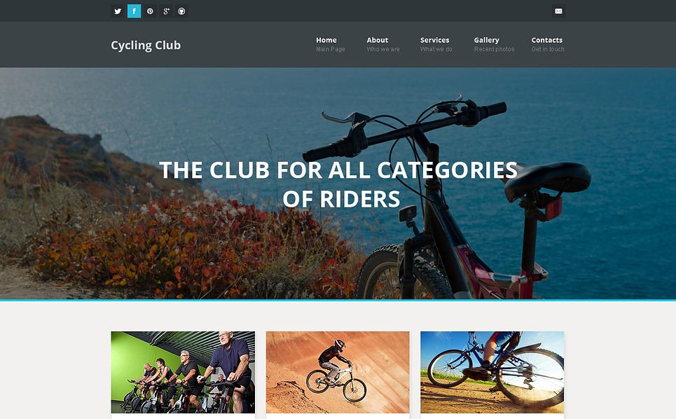 Responsive Website Vorlage für Radfahren  New Screenshots BIG