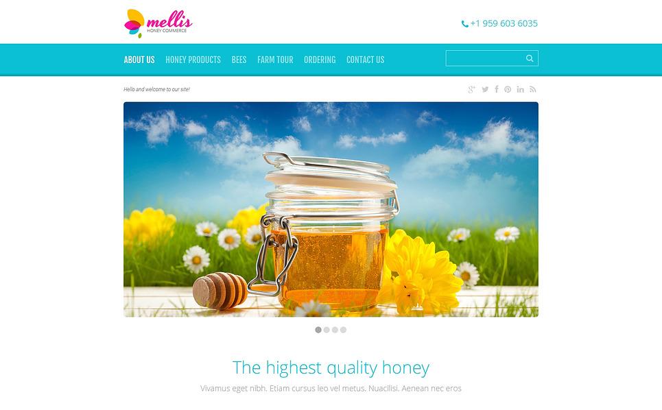Responsywny szablon strony www #46562 na temat: sklep z miodami New Screenshots BIG