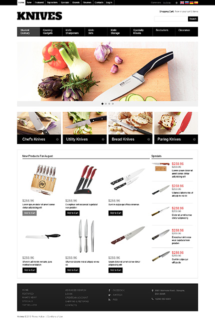 osCommerce Template 46563 Main Page Screenshot