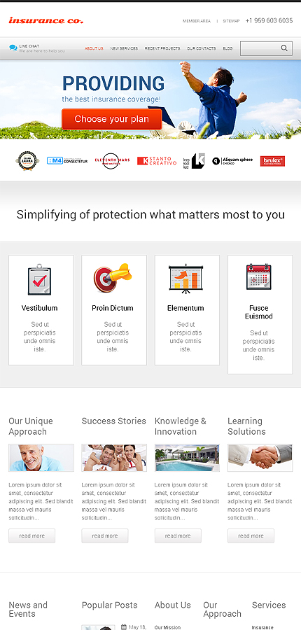 WordPress Theme/Template 46567 Main Page Screenshot