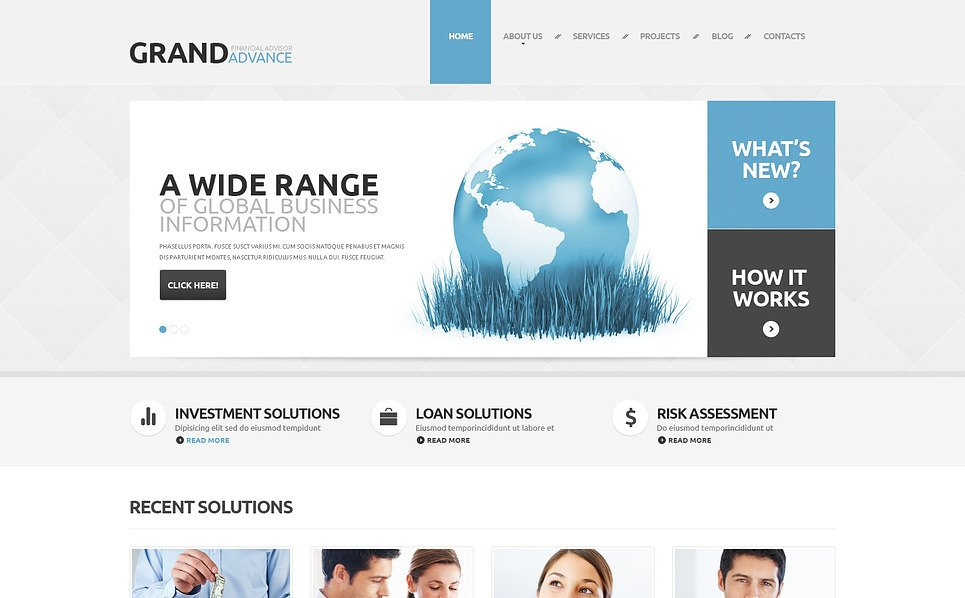 Responsive WordPress thema over Financieel Adviseur  New Screenshots BIG