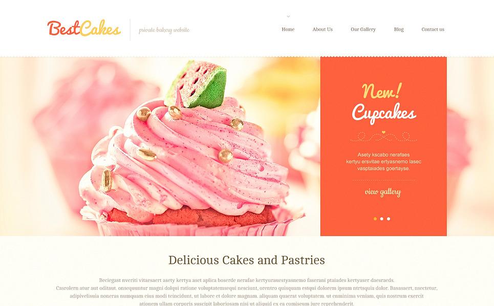Адаптивний WordPress шаблон на тему магазин солодощів New Screenshots BIG