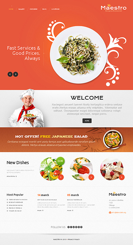 WordPress Theme/Template 46572 Main Page Screenshot