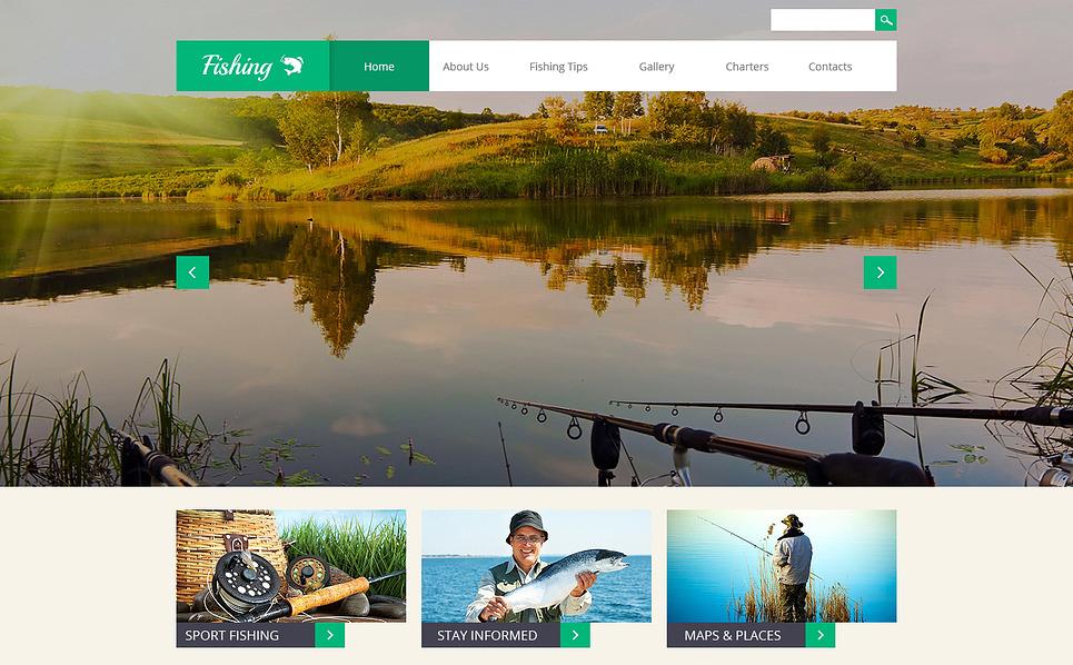 Responsive Website template over Visserij  New Screenshots BIG