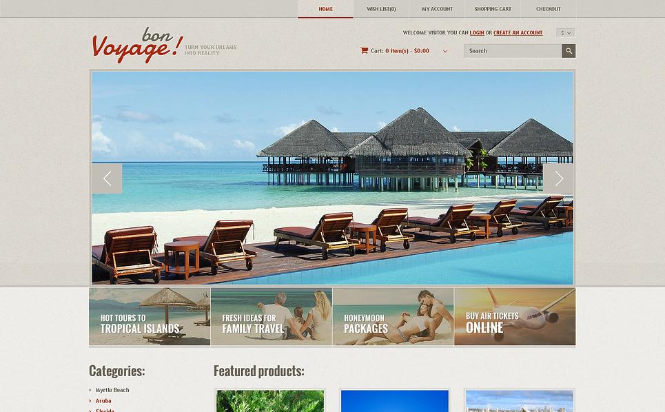 Reszponzív Utazási irodák OpenCart sablon New Screenshots BIG
