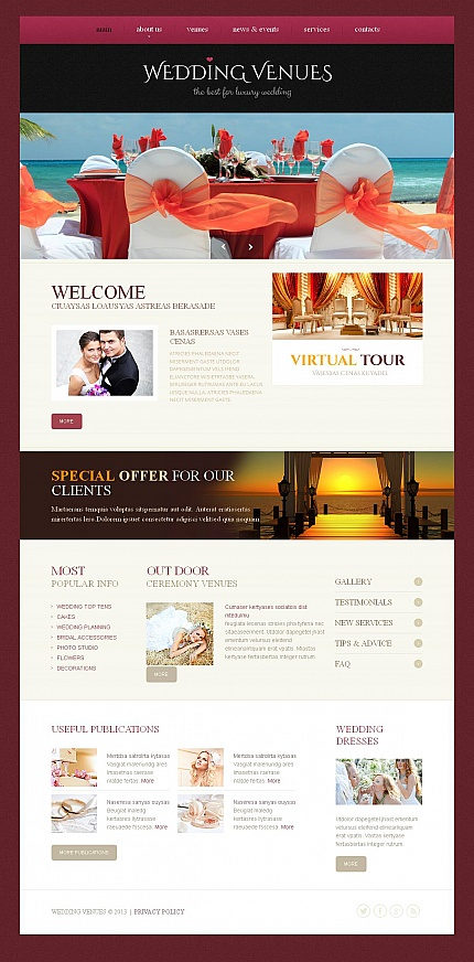 ADOBE Photoshop Template 46581 Home Page Screenshot