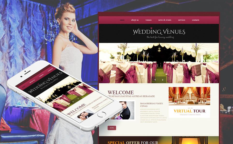 MotoCMS HTML шаблон №46581 на тему свадебный зал New Screenshots BIG