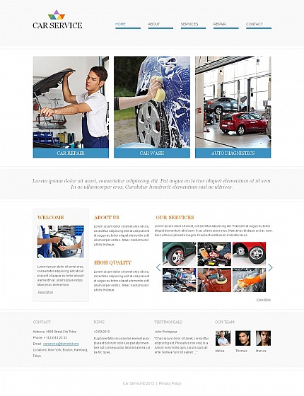 ADOBE Photoshop Template 46582 Home Page Screenshot